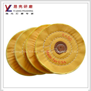 Jewellery and Steel Yellow Polishing Cotton Cloth Wheel pictures & photos