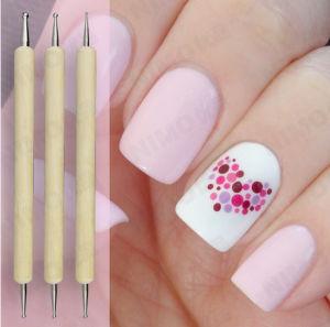 5PCS Wood Nail Art Polish DOT Painting Dotting 2 Ways Pen Tips Tool DIY