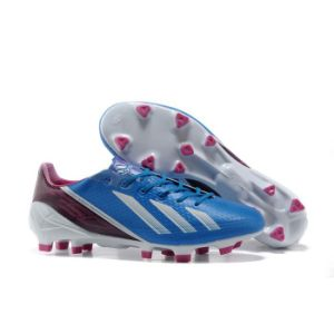 Wholesale Brand Soccer Shoe Men in Blue with White Sport Football Shoe pictures & photos