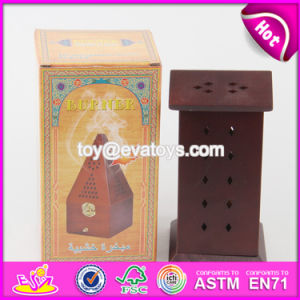 Wholesale Cheap Flat Roof Wooden Incense Holder for Sale W02A260 pictures & photos