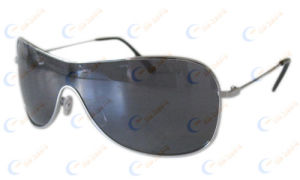 New One Piece Lens Metal Sunglasses (1104)
