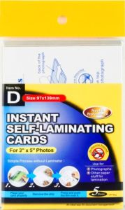 Instant Self-Laminating Name Card pictures & photos