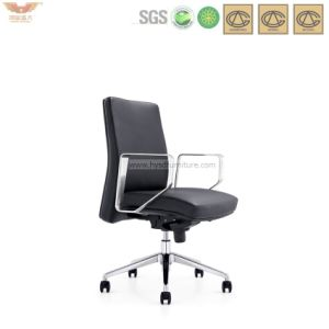 Hot Sale Ribbied Leather Office Operator Chair with Armrest