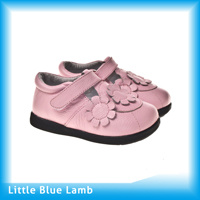 Bright Pink Color Leather Toddler Shoes (UI-B203-PK)