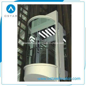 800kg~1600kg 1.0m/S Glass Observation Lift Passenger Elevator pictures & photos
