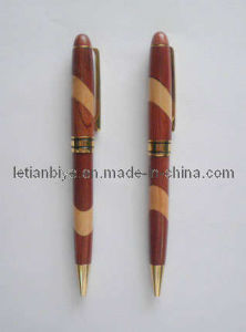 Factory Wholesale Wooden Ball Pen with Gold Plating Part (LT-C203) pictures & photos