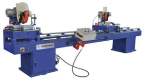 Double Miter UPVC Window Cutting Machine