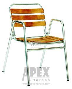 Garden Wood Furniture Aluminium Teak Wood Chair (AS1005AW) pictures & photos