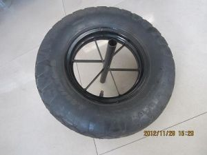 Wheel Barrow 4.00-8 Big Block Rubber Wheel pictures & photos