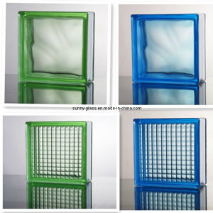 Blue Green Hollow Color Glass Block-Tinted Glass Brick pictures & photos