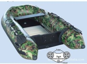China Popular Camouflage Pattern Inflatable Motor Pvc Boat