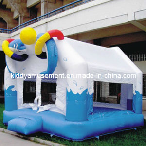 Inflatable Toys Dolphin Style Bouncy Castle for Children