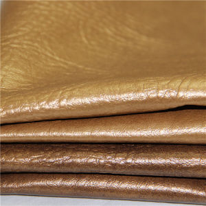Golden Shiny Style PVC Leather for Sofa Furniture Upholstery (DS-B848) pictures & photos