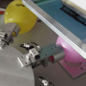 Balloon Two Color Rotary Screen Printing Machine pictures & photos