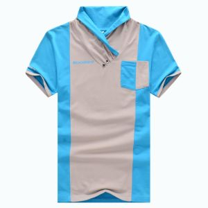 Fashion Colour Matching Design Style Polo Neck Short Sleeve T-Shirt (FY-PTS16)