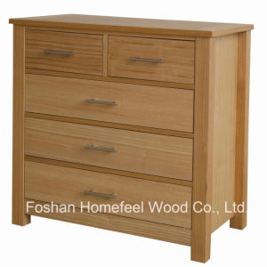 High-Quality Oak Bedroom 5 Drawers Storage Dresser Chest (HC28) pictures & photos