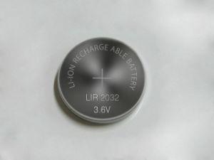 Rechargeable Lir2032 3.6V Li-ion Coin Battery Button Battery