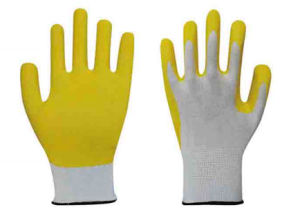 Foam Nitrile Glove Coated 15g Nylon Glove pictures & photos