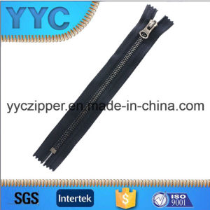 5# Bright Black Zipper Gun Color Metal Zipper with C/E