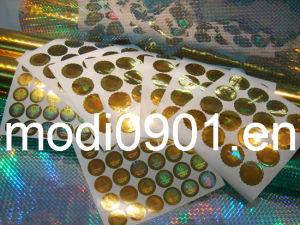 Hot Sale Custom Make Your Own Hologram Sticker, Silver Background Hologram Sticker