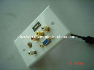 Full AV Wall Plate, RJ45 Coupler