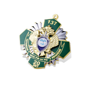 Round Enamel Badge, Stamp Special Logo Badge (GZHY-FFL-013) pictures & photos
