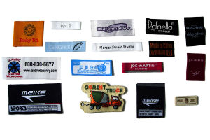 Custom Centre Fold High Quality Soft Woven Clothing Labels pictures & photos
