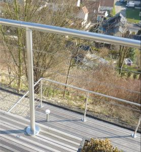 Stainless Steel Cable Railing Post Staircase Balustrade pictures & photos