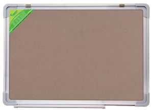 Double Side Cork Board with Aluminum Frame/ Notice Board/ Pin Board