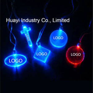Personalized LED Glow Pendants Necklaces pictures & photos
