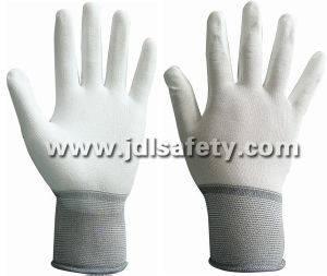 Ce Approved 18 Gauge Work Glove with PU Dipping (PN8001-18) pictures & photos