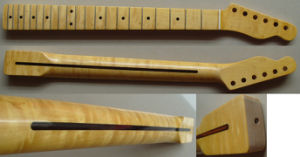 One-Piece Flamed Maple Tele Guitar Neck