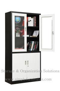 Double Swing Glass Door Storage Cabinet (SPL-DSG01) pictures & photos