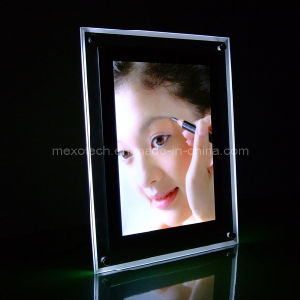 A4 Crystal Desktop Photos Frame with LED Lighting (CST-B-A4P) pictures & photos
