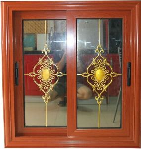 UPVC/ PVC Sliding Window Wood Color, Reasonable Price (pH-8833) pictures & photos