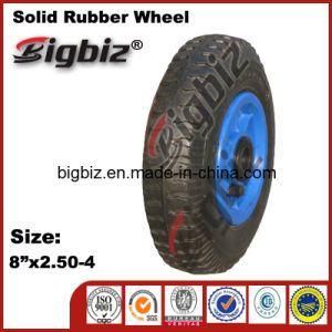 2.50-4 Inch Solid Small Rubber Trolly Wheel pictures & photos