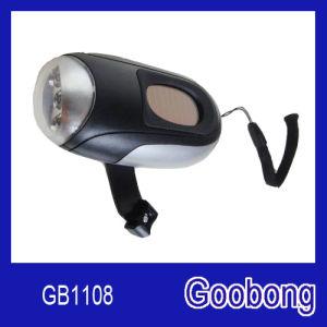 3LED Solar Hand Crank Flashlight pictures & photos