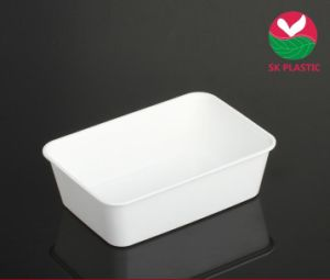 Plastic Food Container (SK 750 White) pictures & photos