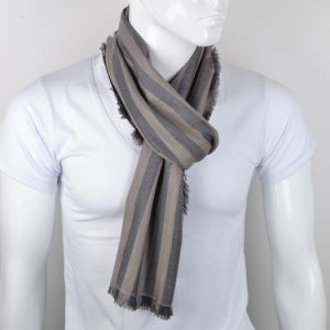 New Developed Men′s Cashmere & Silk Blended Scarf pictures & photos