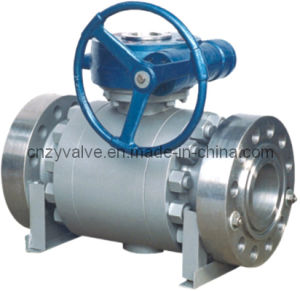 API Floating Three-Piece Type Ball Valve with Flanged and Worm Operated pictures & photos