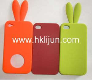 Rabbit Ears Silicone Case for iPhone 4, Case for iPhone, iPhone 4 Skin