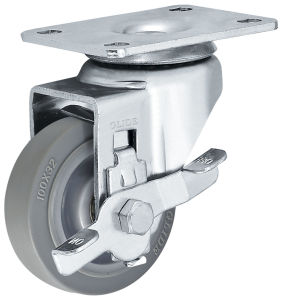 Medium Duty TPR Double Bearing Caster (Gray) pictures & photos