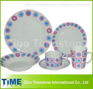 24PCS Porcelain Decaled Dinner Set (627037) pictures & photos