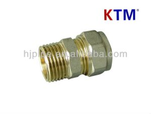 Brass Pipe Fitting of Straight Male Connector pictures & photos