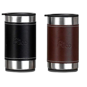 Stainless Steel Double Wall Mug with Leather 280ml pictures & photos