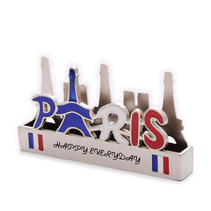 Custom Souvenir Table Metal Name Business Card Holder (BK53375) pictures & photos
