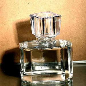 Prismatic Clear Glass Perfume Bottle