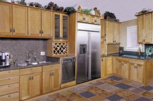 Walnut Solid Wood Bottom Cabinets with Granite Counter Top pictures & photos