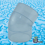 High Quality PVC Clear Elbow pictures & photos
