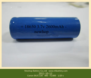 Lithium Ion Battery 3.7V 2600mAh 18650 Battery